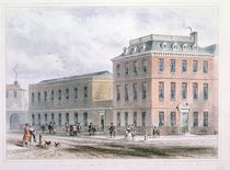 View of Soho Square and Carlisle House by Thomas Hosmer Shepherd