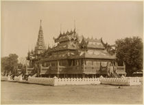 The Nan-U Human-Se, Shwe-Kyaung in the palace of Mandalay by Felice Beato
