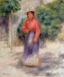 Gabrielle in the garden, c.1905 ? von Pierre-Auguste Renoir