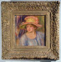 Woman with a hat, c.1915-19 ? von Pierre-Auguste Renoir