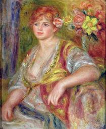 Blonde woman with a rose, c.1915-17 von Pierre-Auguste Renoir