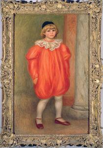 Claude Renoir in a clown costume von Pierre-Auguste Renoir