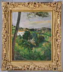 Landscape with red roof or The pine at the Estaque von Paul Cezanne