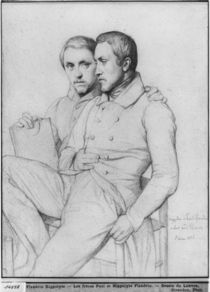Double portrait of Hippolyte and Paul Flandrin von Hippolyte Flandrin