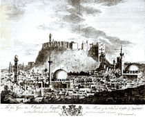 A view of the city and castle of Aleppo von Alexander Drummond