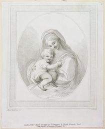 Virgin and Child, engraved by Luigi Schiavonetti 1793 by Francesco Bartolozzi