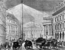 The Electric Light at the Mansion House by English School