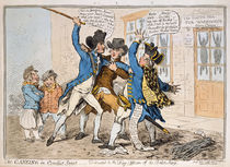 The Caneing in Conduit Street von James Gillray