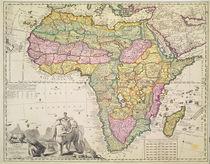 Map of Africa by Pieter Schenk