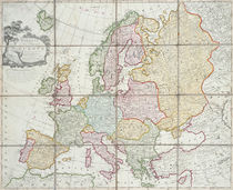 Wallis's New Map of Europe Divided into its Empires Kingdoms &c by English School