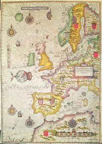 A Generall carde, and description of the sea coastes of Europe von Jodocus Hondius