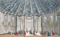 Interior View of the elegant music room in Vauxhall Gardens by Samuel Wale