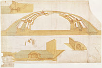 Study for a Fortress on a Polygonal Ground Plan with a Double Moat von Leonardo Da Vinci