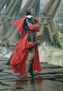 Cardinal Richelieu on the sea wall at La Rochelle by Henri-Paul Motte