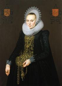 Portrait of Justina van Teylingen von Cornelis van der Voort