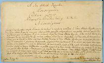 Handwritten dedication of 'Brandenburger Concertos' to Christian Ludwig by Johann Sebastian Bach
