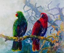 Eclectus Parrots by Geoff Amos