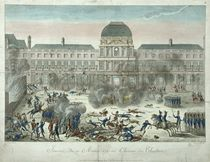 Chateau des Tuileries, 10th August 1792 by G. Texier