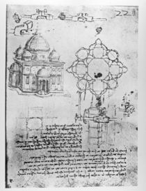 Design for a church, fol. 4r von Leonardo Da Vinci