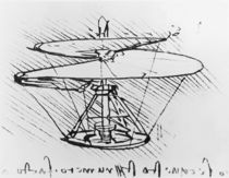 Detail of a design for a flying machine by Leonardo Da Vinci