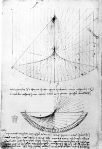 Studies of concave mirrors of constant and parabolic curvatures by Leonardo Da Vinci