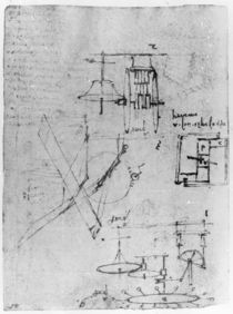 Fol. 45r, from the Codex Forster III by Leonardo Da Vinci