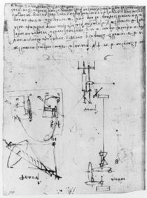Fol. 46v, from the Codex Forster III by Leonardo Da Vinci