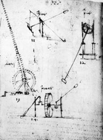 A page from the Codex Forster by Leonardo Da Vinci
