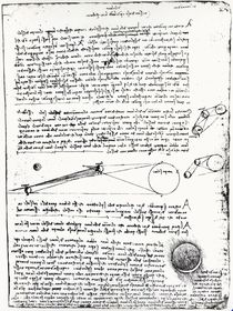 Astronomical diagrams, fol. 2r from the Codex Leicester by Leonardo Da Vinci