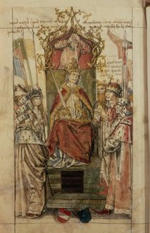 Frederick III surrounded by Prince Electors by German School