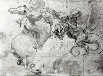 Battle between a Rider and a Dragon by Leonardo Da Vinci