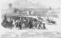 Warwick Races, from 'The Illustrated London News' by English School