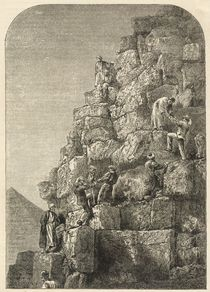 Ascent of the Great Pyramid by English School