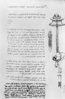 Study of a floater with breathing tubes for a diver by Leonardo Da Vinci