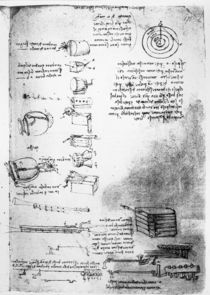 Facsimile of a page from the Codex Arundel by Leonardo Da Vinci