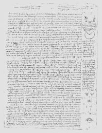 Page from the Codex Leicester by Leonardo Da Vinci