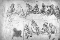 Preparatory drawing for the Last Supper by Leonardo Da Vinci