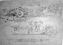Scythed Chariot, c.1483-85 von Leonardo Da Vinci