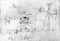 Weaponry designs, fol. 40v-a von Leonardo Da Vinci