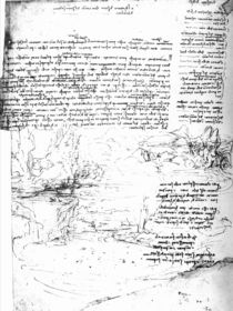 Fol.145v-a, page from Da Vinci's notebook by Leonardo Da Vinci