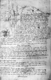 Fol.145v-b, page from Da Vinci's notebook by Leonardo Da Vinci