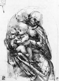 Study for a Madonna with a Cat by Leonardo Da Vinci