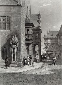 Town Hall, Halberstadt, engraved by E. Joubert by Carl Friedrich Heinrich Werner