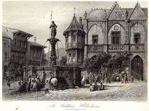 The Rathhaus, Hildesheim, engraved by J.J. Crew by Carl Friedrich Heinrich Werner