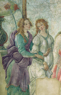 Detail of Venus and the Graces offering gifts to a young girl von Sandro Botticelli