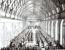 Garter Feast in St. George's Hall by Wenceslaus Hollar