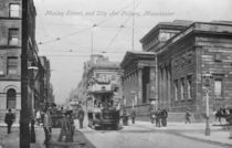 Mosley Street, and City Art Gallery by English Photographer
