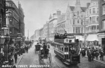 Market Street, Manchester, c.1910 by English Photographer