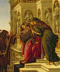 Calumny of Apelles, 1497-98 by Sandro Botticelli