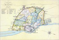 Plan of Delhi 1857-58, engraved by Guyot & Wood by English School